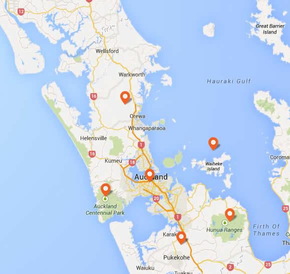Helpful Map of Auckland City | Scenic Hotels